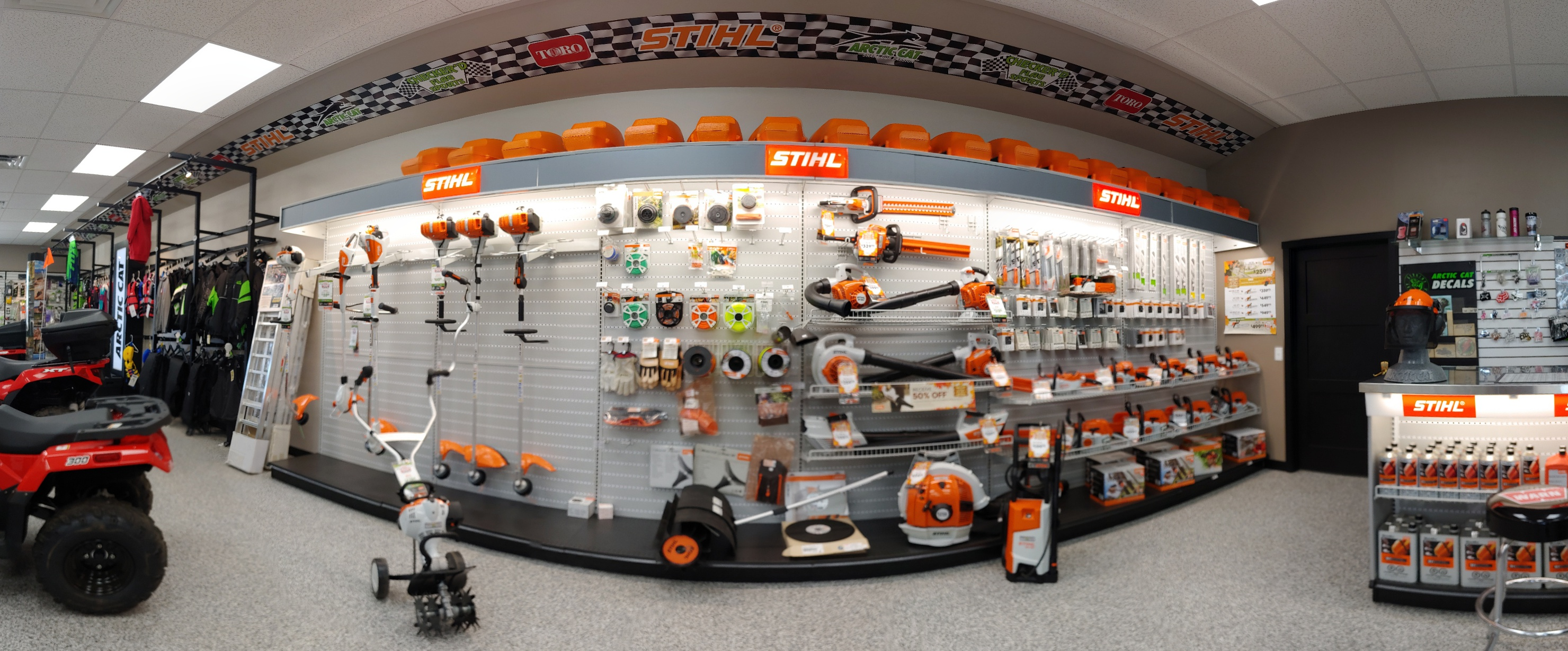 Stihl wall of products